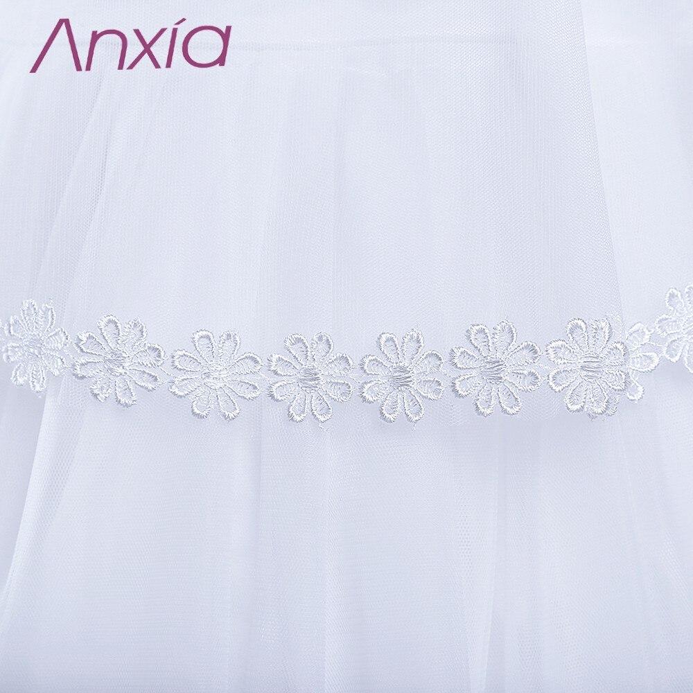 2016 Bijela Brand New Cvjetni Djevojka haljina s Cape Anxia Stvarni - Vjenčanje večernje haljine - Foto 6