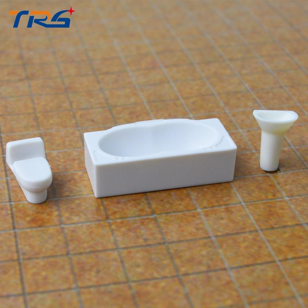 Teraysun 1/50 architecture Dollhouse Bathroom Furniture Bathtub DIY Model Scale 1:50 White