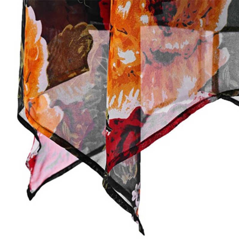 2019 夏のノースリーブ花柄ミニドレス特大 4XL 5XL 女性ショートドレスカジュアルルースドレス V ネックヴィンテージビーチドレス