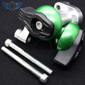 green color motorcycle accessories CNC aluminum engine cover frame sliders crash protector for kawasaki z1000sx 11-14