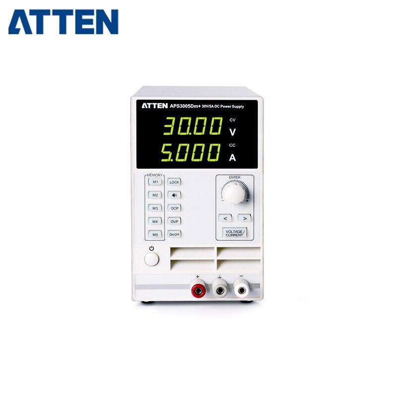 ATTEN APS3005Dm + 220 v di Uscita Regolabile 0 ~ 33 v 0 ~ 5.5A Singolo Canale DC di AlimentazioneATTEN APS3005Dm + 220 v di Uscita Regolabile 0 ~ 33 v 0 ~ 5.5A Singolo Canale DC di Alimentazione