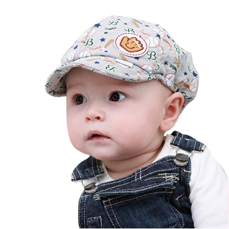 Cute Pattern Print infant Baby Boys Caps Baby Boy Girl Kid Toddler Infant Hat Peaked Baseball Beret Cap защитный детский шлем