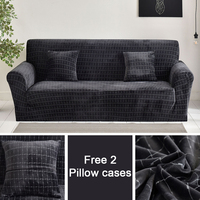 Free 2 pillow cases Flannel fabric sofa Covers thick sofa cover Slipcovers bench Covers seat cover Elastic stretchy for home
