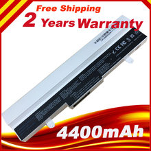 White 4400mAh Laptop Battery for Asus Eee PC EEEPC 1001HA 1001PX 1005 HA 1005H 1005P 1005PE 1101HA +free shipping(China)