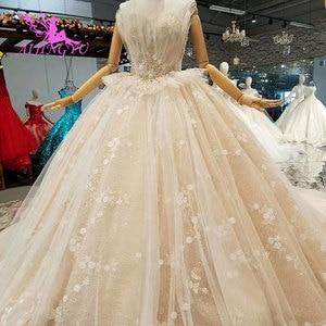 Image 1 - AIJINGYU 高級ウェディングプラスサイズブライダルドレス王室光沢のあるショートフロント脂肪サイズセクシーなオンライン自由奔放に生きるウェディングサイト