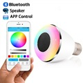 E27 6W Smart Bluetooth Bulb Light BL-08A Color Changing LED Light Bulb with Speaker eless Dimmable LED Bulb By Android&IOS App