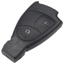 цена на Jingyuqin 10pc 2 Button Remote Car Key Case Shell for Mercedes for Benz B C E S ML SLK CLK Class Key Shell Fob Cover Car-styling