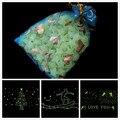 200 unids Estrellas Brillan en la Oscuridad Luminosos Fluorescentes de Plástico Decoración de La Pared para el Cabrito Casa para La Boda WYQ