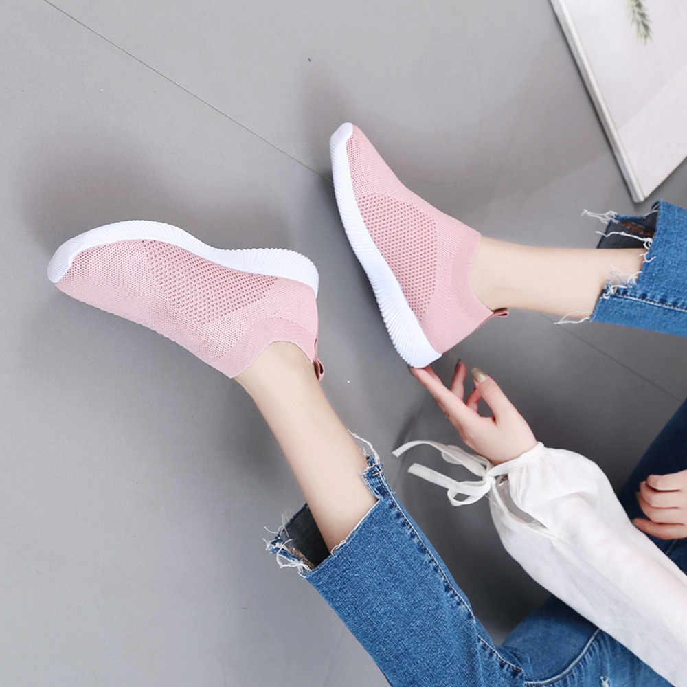 KLV Frauen Outdoor Mesh laufschuhe Slip Auf Komfortable Sohlen Laufsport Schuhe turnschuhe frauen zapatillas mujer deportiva #25