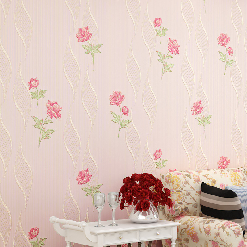 beibehang Warm living room bedroom full of non - woven wallpaper fine three - dimensional three - dimensional rural wallpaper beibehang warm pink girl room wallpaper children s room non woven three dimensional love childrens clothing shop wallpaper