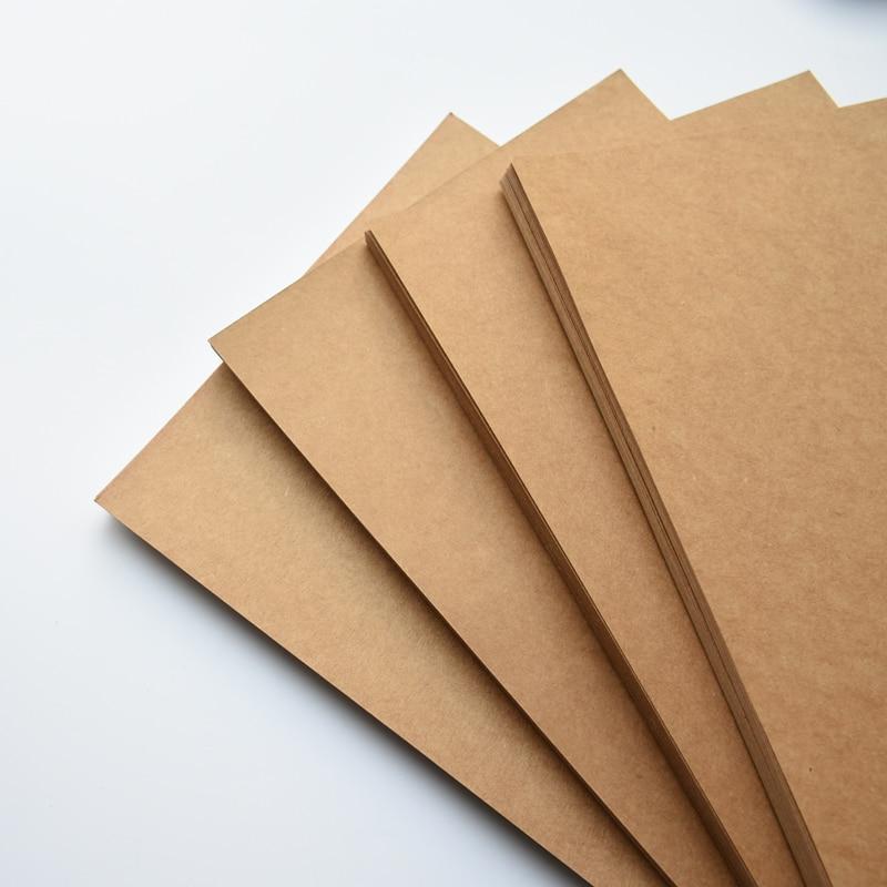 A4 Weiß Braun Kraft Papier Pappe karton Leere Karte ...