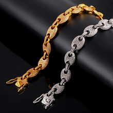 12mm Cuban Chain Bracelet  Copper Iced Out CZ Bling for Women Jewelry CZHip Hop Charm