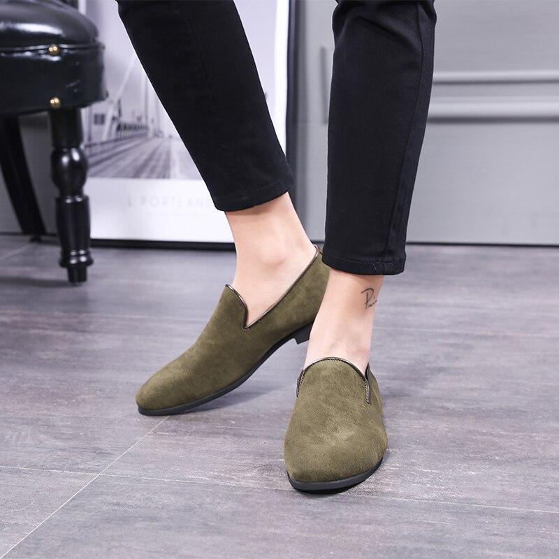 Ante Ejército Zapatos Casuales Hombres marrón En Los De Marrón Verde Negro Slip Caliente 2019 Mocasines 48 Militar Del Eu37 verde Tamaño Venta Más Negro IHKtptwq
