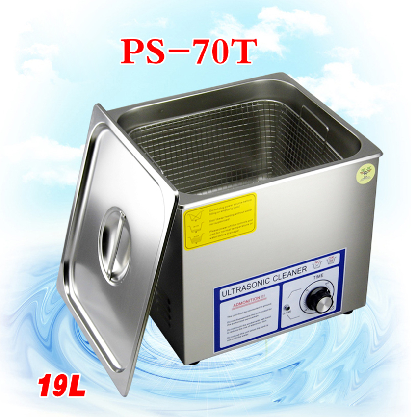 1PC 110V/220V PS-70T 360W Ultrasonic Cleaner 19L computer motherboard/locks ultrasonic cleaning machine 110v 220v aoyue9050 ultrasonic cleaner cleaning machine for cleaning electronic accessories