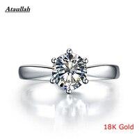 Super Big 5Carat 18K White Gold Lab Diamond Ring Pt950 Women Classic Diamond Ring Certificate Certified
