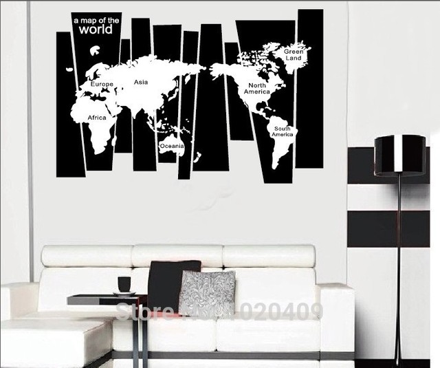 High Quality Products Ins Exclusive Custom Black Big World Map - Big black and white world map