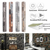 10mx53cm 3D Brick Stone Textured Wallpaper Roll Art Wall Paper Wall Stickers Modern Home Room Office Decoration 4 Patterns