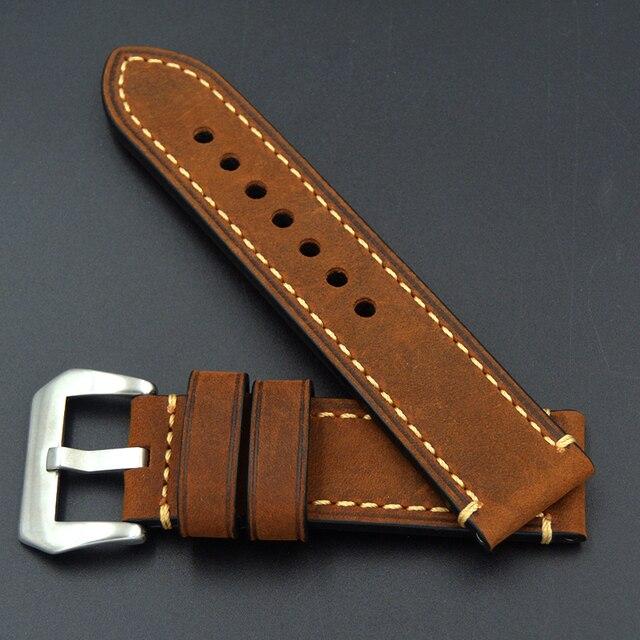 Фото ремешок для часов из телячьей кожи браслет panerai omega seiko цена