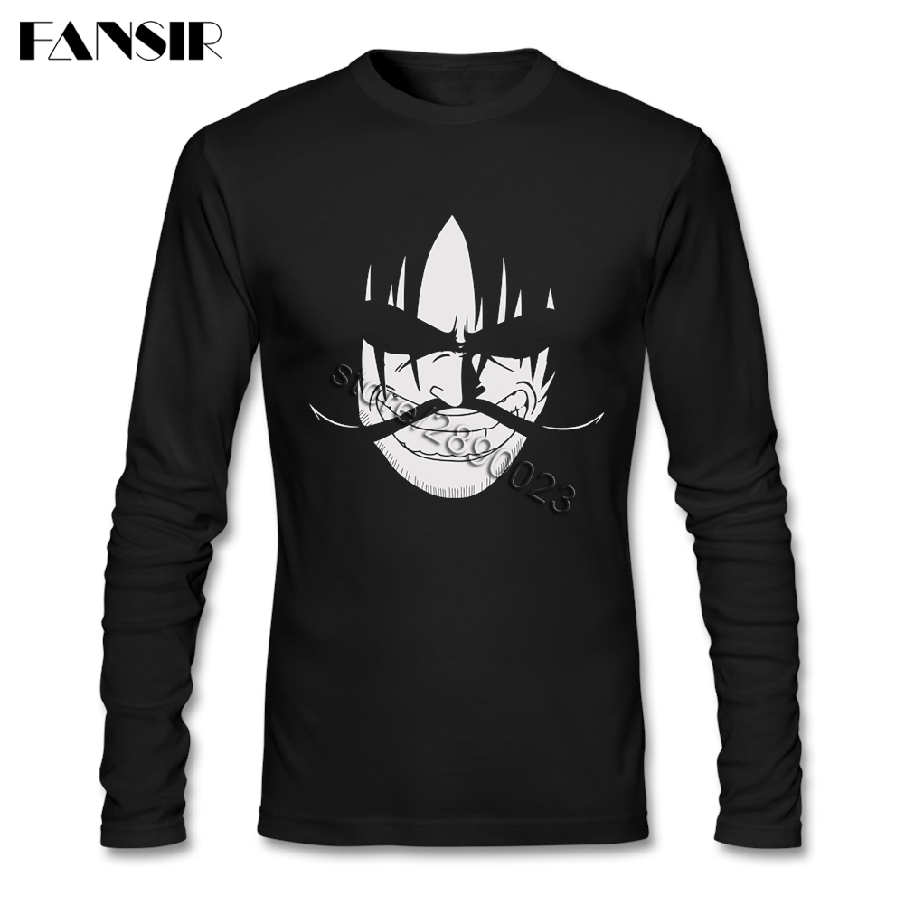 The Greatest Pirate Anime One Piece 2017 New Fashion T Shirts Men Round Neck Long Sleeve Cotton Men Clothing 3XL