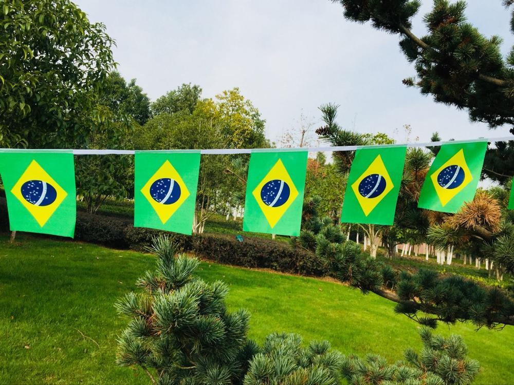 Бразильские флаги с 30 шт Вымпел гирлянда с флажками праздничные вечерние праздники