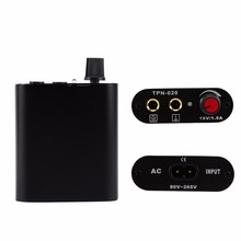 Mini Professional Black Metal Mini Tattoo Power Supply Motor Power With Cable Cord Power Supply For Tattoo Machine US/EU Plug