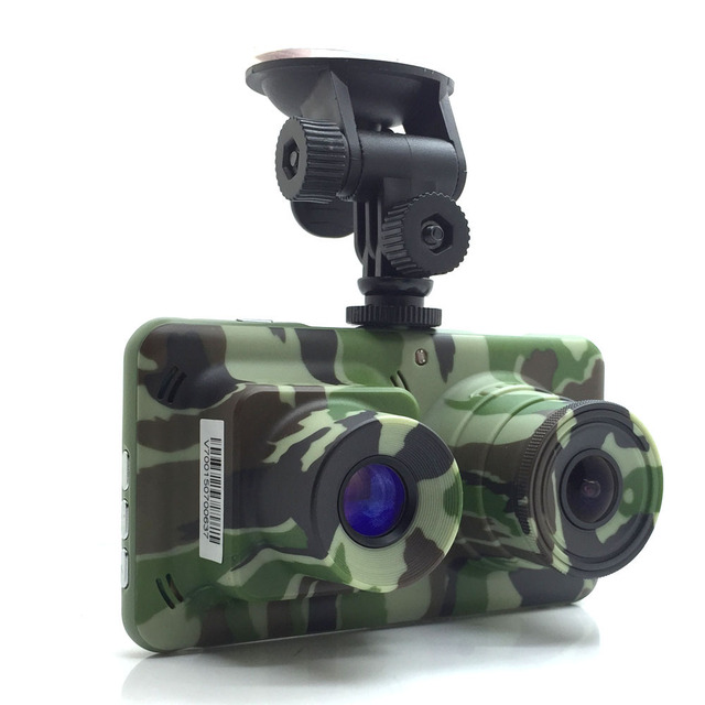 "Military Quality Car DVR Camera 4.5""LCD Dual Lens Super Night Vision Full HD 1080P Night Vision Lens+Day Time Lens"
