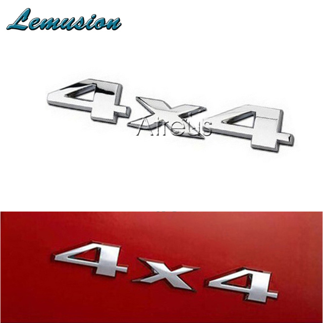 Car Styling 3d 4wd 4x4 Metal Stickers Car Sticker For Subaru