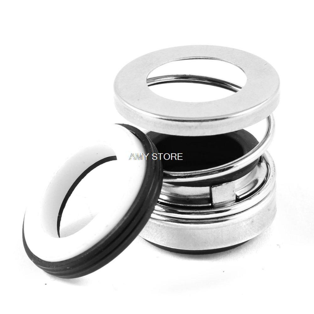 Silver Tone Black Single Coil Spring Water Pump Mechanical Shaft Seal 16mm BIA-16 цена