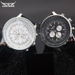 Image 4 - JARAGAR relojes clásicos para hombres, mecánicos de lujo, con calendario automático de 6 pines, esfera de banda grande, reloj de pulsera, reloj para hombre, relojes suizos