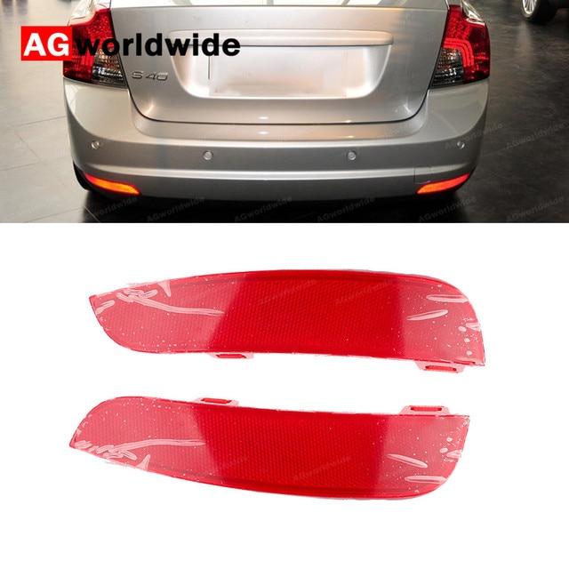 Réflecteur de pare choc arrière gauche/droite, accessoire Volvo S40 V50, 30763345, 30763346, 2008, 2009, 2010, 2011, 2012, 2014, 2015