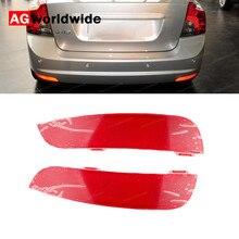 Reflector de parachoques trasero para coche, luz roja, para Volvo S40, V50, 30763345, 30763346, 2008, 2009, 2010, 2011, 2012, 2014, 2015