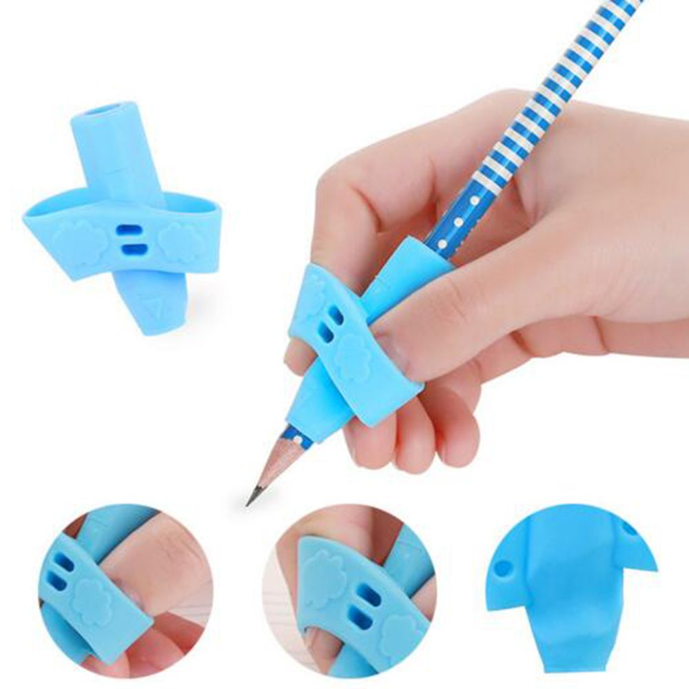 Pen Grip Silicone Pencil Handles Two Finger Writing Posture Correction Children Writing Stationery Set