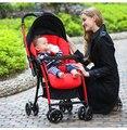 Carrinho de bebê pode sentar pode estar mentindo luz portátil dobrável quatro-choque roda bi-direcional de entrega do bebê para sua cidade