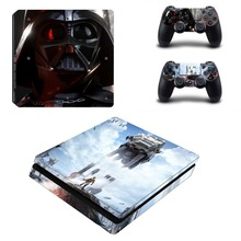 Star War Decal PS4 Slim Skin For Playstaion 4 Console PS4 Slim Skin Stickers+2Pcs Controller Protective Skins
