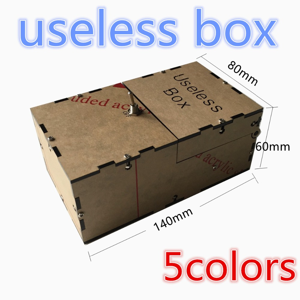 Free Shipping Transparent Useless Box Kit Leave Me Alone Box Great Geek Gift(Fully Assembled,DIY Version) neje wooden useless fully assembled machine box toy brown 2 x aa