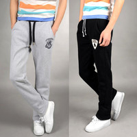 2014 Casual Pants Male Sports Trousers Straight Summer Thin Health Pants Male Slim Trousers