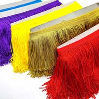 Wholesale 10cm Wide Lace Fringe Trim Tassel Fringe Trimming For Latin Dress Stage Clothes Accessories Lace Ribbon Tassel