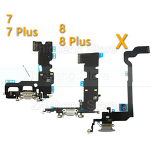 цена на Original Charging Flex Cable For iPhone X Xs Max XR 7 8 Plus USB Charger Port Dock Connector With Mic Flex Cable