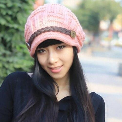 Splendid Women's Fashion Autumn Winter Warm Baggy   Beanie   Knit Crochet Hat Hedging cap Retail/Wholesale 4XST
