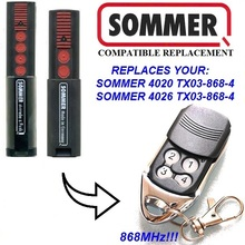 Garage Door Sommer 868mhz  for replace SOMMER 4020 TX03-868-4 4026 TX03-868-4 remote control