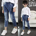 spring clothes 2017 small cute girls jeans Korean children jeans trousers pants 1-2-3-4-5 year