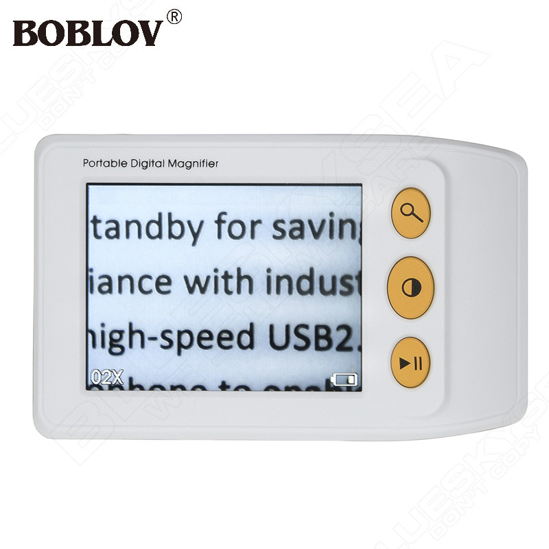 BOBLOV 2-25X Handheld Video Digital Magnifier  3.5 inch LCD Electronic Reading Aid with Multiple Color Modes for Low Vision new 1 8x 5x 10led illuminated plug in two purposes handheld desktop magnifier with light for reading working