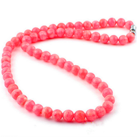 2018 New Arrival Genuine Rose Rhodochrosite Gems Natural Stone Necklace 6mm Round Loose Beads DIY Fashion Jewelry Long Necklace