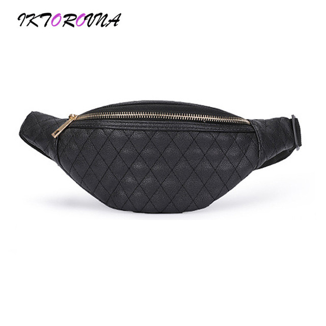 IKTOROVNA Plaid Women's Waist Packs Fashion Female Chest Shoulder Bags New Fanny Bags Hot Sale Pouch Messenger Bag Drop Shipping