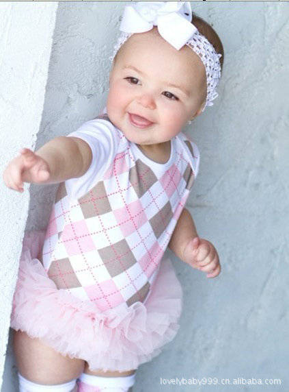 Beautiful Big Cell Baby Girl Grow Short Sleeved Bodysuit Onesie Jumpsuit