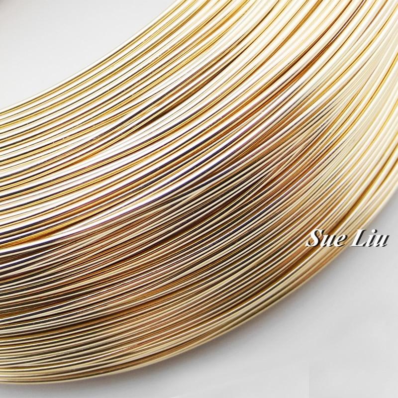 10 Mt Champagner Gold Anadized Aluminium Draht vielseitige gemalt ...