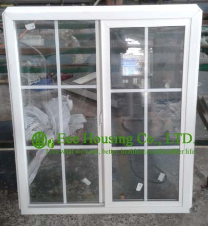 Soundproof Insulated Glass UPVC Sliding Windows For