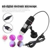 Portable Microscope 500X 1000X 1600X 8 LED Digital USB Microscope Microscopio Magnifier Electronic Stereo USB Endoscope Camera