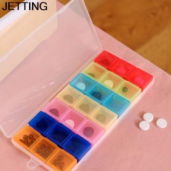 Tydzień 21 pudełko z przegródkami na leki pojemnik na medycyny 7 dni Pill medycyna tabletka pigułka Case Box rozgałęźniki dozownik organizator Case tanie i dobre opinie Jiauting Plastic pill case