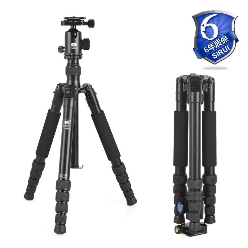 Sirui T2005X Pro Camera Stand Tripod T-2005X+G20KX Ball Head Tripod Foot For SLR Camera Video Travel Bag Sturdy Aluminum Legs sirui n2004 g20kx slr camera portable tripod with ball head
